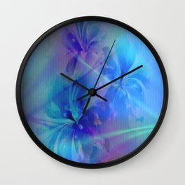 Soft  Colored Floral Lights Beams Abstract Wall Clock