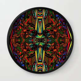 Crazy Red Wall Clock