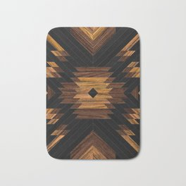 Urban Tribal Pattern 7 - Aztec - Wood Bath Mat