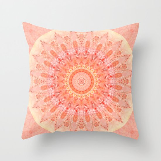 Soft Down Throw Pillows : Mandala soft orange 2 Throw Pillow by Christine Baessler Society6