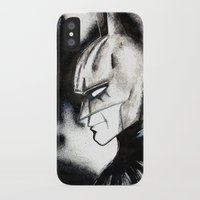 bat man iPhone & iPod Cases featuring bat man by Tufty Cookie