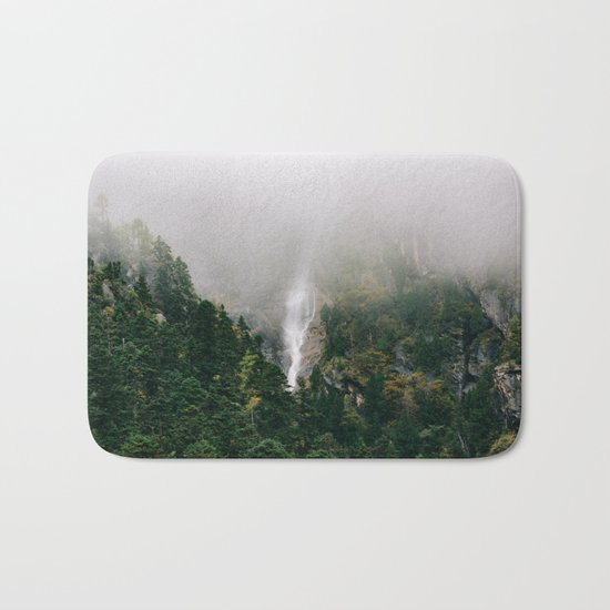 Misty Mountain Morning Bath Mat