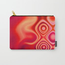 Dots in Motion (hot scarlet-vermilion red) Carry-All Pouch