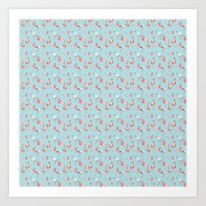 A sea of Flamingos Art Print