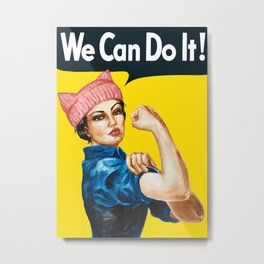 We Can Do It! Metal Print
