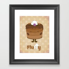 Fluffy Chocolate Mousse Cake Framed Art Print