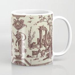 French toile brown 1802 Coffee Mug