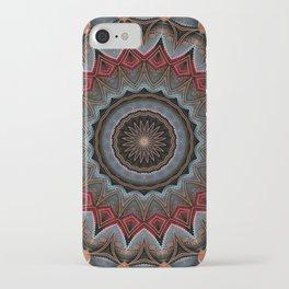 Elegant Damask Star Mandala iPhone Case