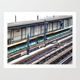 Train platform at Bay 50 street Art Print
