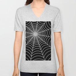 Spiderweb | Silver Glitter Unisex V-Neck