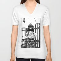 apollonia V-neck T-shirts featuring asc 589 - La maison close (No trespassing) by From Apollonia with Love