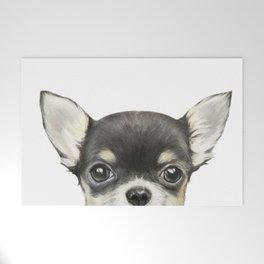 Chihuahua mix color Dog illustration original painting print Welcome Mat