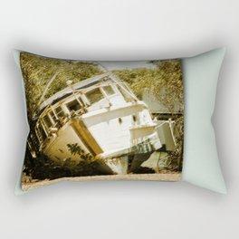 Boat in need of repair Rectangular Pillow