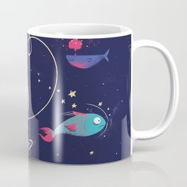 The Adventures of Space Cat Coffee Mug