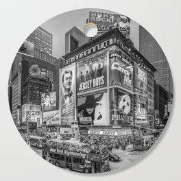 Times Square III Special Edition I (black & white) Cutting Board