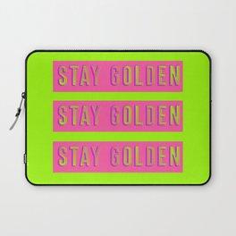 Stay Golden Art Print Laptop Sleeve