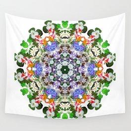 Spring wildflower mandala 2 Wall Tapestry