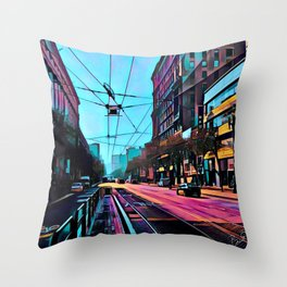 Market Street, San Francisco Throw Pillow