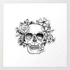 Skull glam Art Print