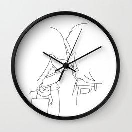 Fashion illustration line drawing - Tessa Wall Clock