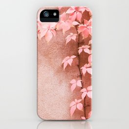 Wall abstract old ivy leaves iPhone Case