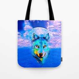 Wolf Moon and the Deep Blue Sea Tote Bag