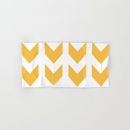 Gold Chevron Pattern Hand & Bath Towel