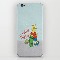 simpson iPhone & iPod Skins featuring FART SIMPSON by Josh LaFayette