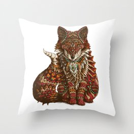 Red Fox (Color Version) Throw Pillow