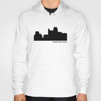north carolina Hoodies featuring Raleigh, North Carolina by Fabian Bross