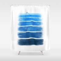 trip Shower Curtains featuring sea trip by Darthdaloon