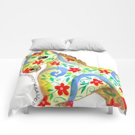 """caballo I"" serie : animales dométicos. Comforters"