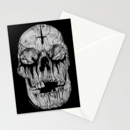 Black blooded Stationery Cards