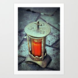 Light went Dark Art Print