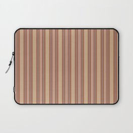 Cavern Clay SW 7701 and Accent Colors Thick and Thin Vertical Lines Bold Stripes 1 Laptop Sleeve