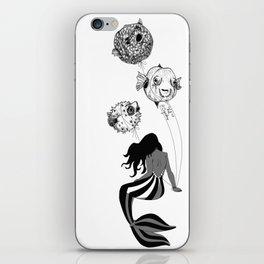Circus Mermaid and Balloon Fish iPhone Skin