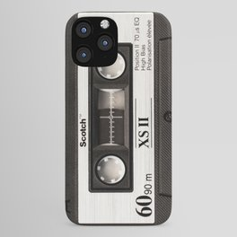 Cassette Tape Black And White #decor #society6 #buyart iPhone Case