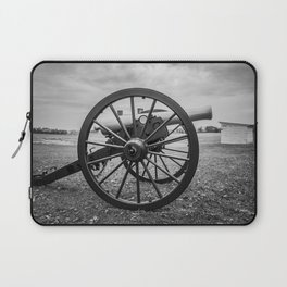 Monocacy National Battlefield Civil War Cannon Black and White Photography National Park Maryland Laptop Sleeve
