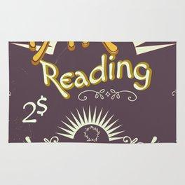 Tarot Reading vintage chalk poster Rug