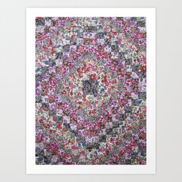 Liberty of London Patchwork Quilt Art Print