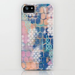 honeycomb and lace iPhone Case