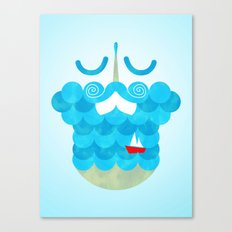 The Bearded Sea Canvas Print