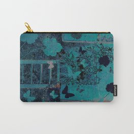 butterflies_I turquoise Carry-All Pouch