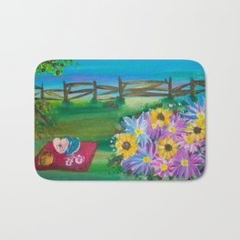 Summer Garden Bath Mat