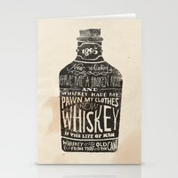 jon snow Stationery Cards featuring Whiskey by Jon Contino