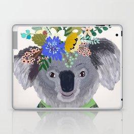 Koala with flowers on head Laptop & iPad Skin