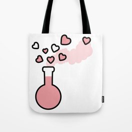 Pink Love Magic Potion in a Laboratory Flask Tote Bag