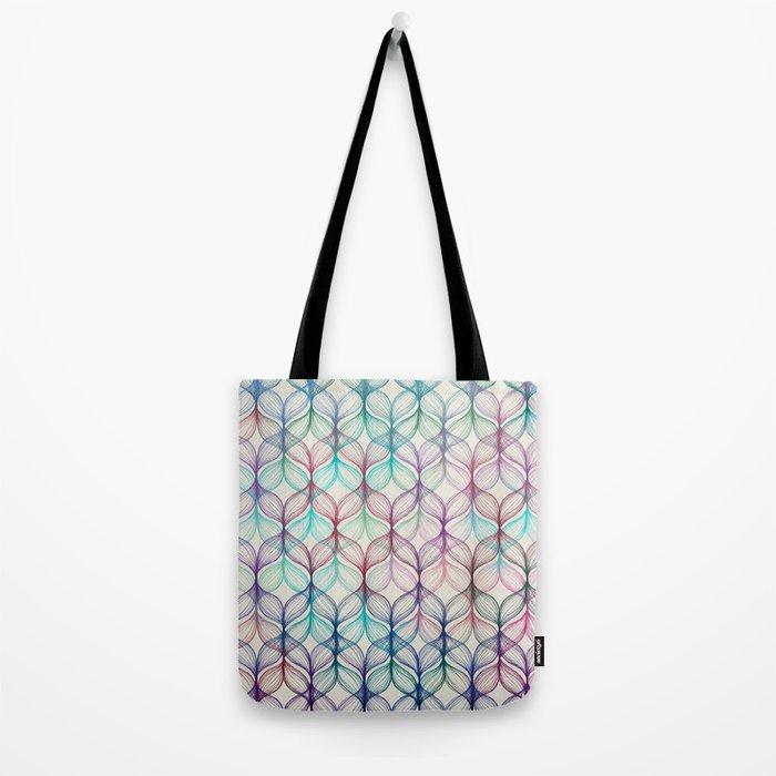 Mermaid's Braids - a colored pencil pattern Tote Bag