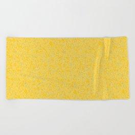 Solar Flare Molten Gold Abstract Beach Towel