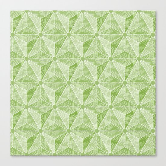 Geodesic Palm_Green Canvas Print